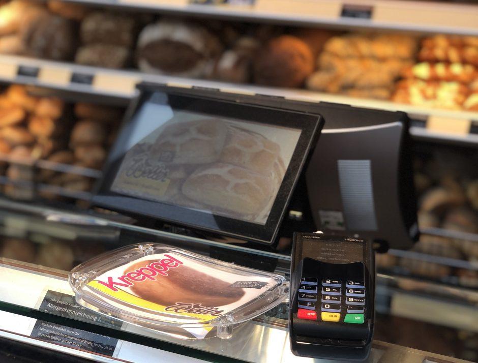 Nicht nur regional, auch digital: Kartenzahlung bei der Bäckerei Weller